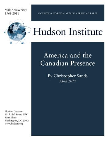 America and the Canadian Presence - Hudson Institute