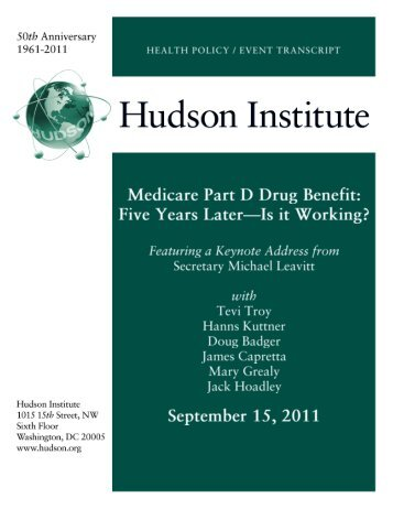 to view the transcript of this event - Hudson Institute