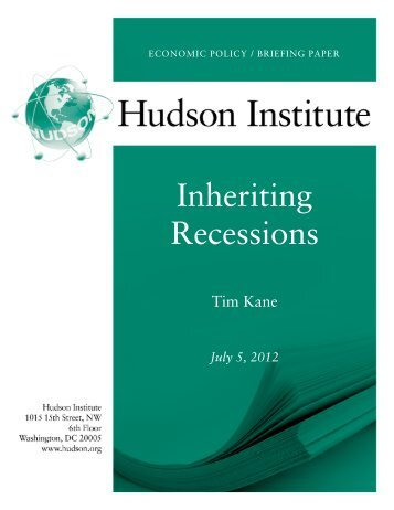 Inheriting Recessions - Hudson Institute