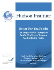 'Better-For-You' Foods: An Opportunity To Improve - Hudson Institute