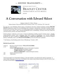 A Conversation with Edward Skloot - Hudson Institute