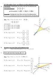 4.8 Besondere Lage von Ebenen im Koordinatensystem