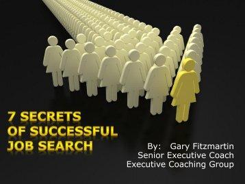 7 Secrets to Successful Job Search