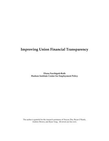 Improving Union Financial Transparency - Hudson Institute