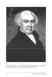 """Knobloch, Muriel. """"Gouverneur Morris and His Contribution to the"""