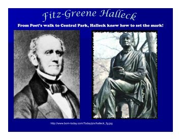 Fitz-Greene Halleck, Poet - The Hudson River Valley Institute