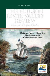 the hudson river valley review - The Hudson River Valley Institute