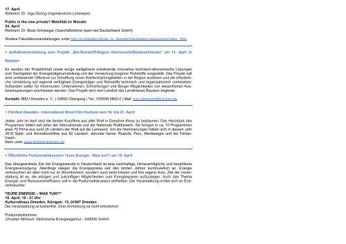Newsletter April 2013 - Dresdner Agenda 21
