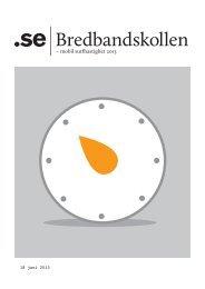 Bredbandskollen – Mobil surfhastighet 2013 - Cision