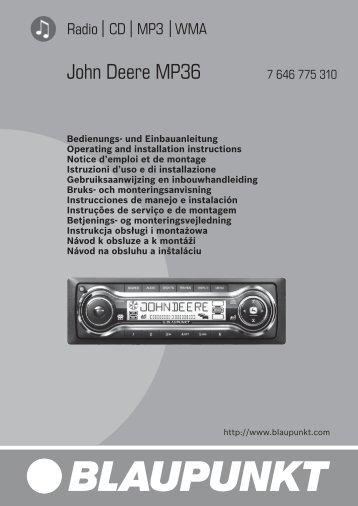 John Deere MP36 - Blaupunkt
