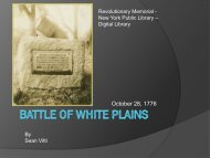 Battle of White Plains - The Hudson River Valley Institute
