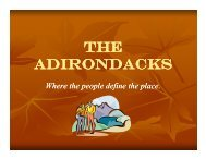 THE ADIRONDACKS - The Hudson River Valley Institute
