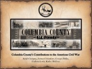 COLUMBIA COUNTY - The Hudson River Valley Institute