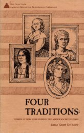 Four Traditions: Women of New York during the American Revolution