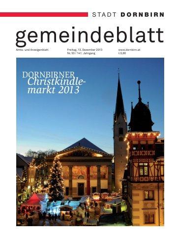 Dornbirner Gemeindeblatt KW 50 vom 13.12.2013