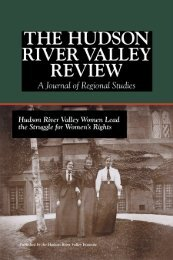 A Journal of Regional Studies - The Hudson River Valley Institute