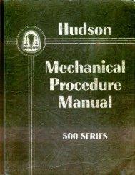 1950 Hudson Mechanical Procedures Manual - HudsonTerraplane