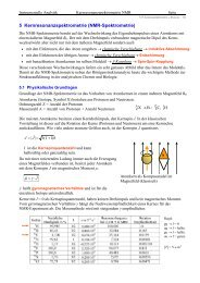 5 Kernresonanzspektrometrie (NMR-Spektrometrie)