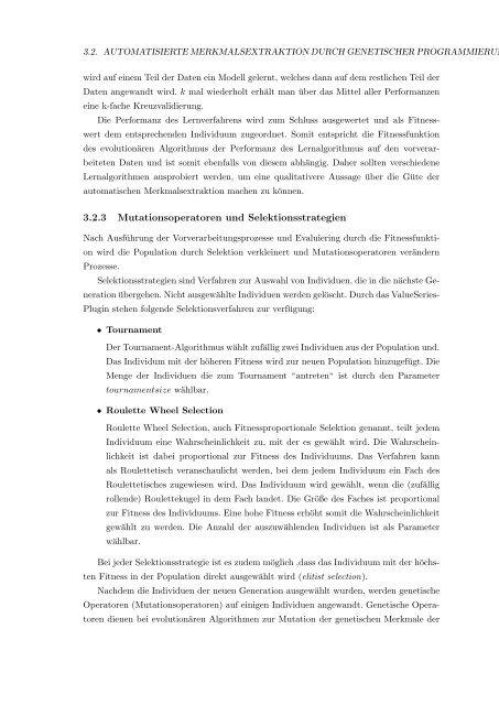 Bachelorarbeit - Lehrstuhl für Künstliche Intelligenz der Universität ...