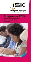 Programm 2014 - ISK-Hannover, Institut für Sprachen und ...