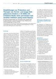 Empfehlungen zur Prävention und Therapie von Termin- und knapp ...