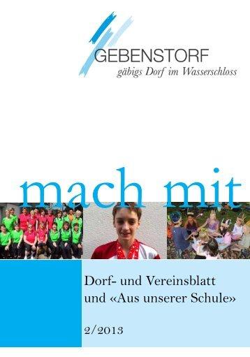 Mach Mit 2/2013 - Gemeinde Gebenstorf