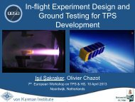 In-flight Experiment Design and Ground Testing for TPS Development