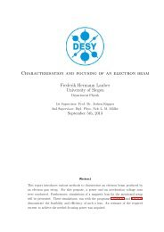 Characterisation and focusing of an electron beam - Desy