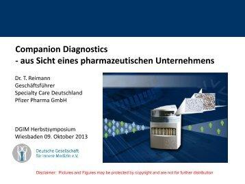 Companion Diagnostics - aus Sicht eines pharmazeutischen ... - DGIM
