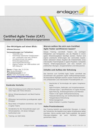 Certified Agile Tester - andagon GmbH