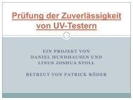 Prüfung der Zuverlässigkeit von UV-Testern