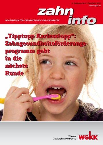 Zahn Info Dezember 2013 - Wiener Gebietskrankenkasse