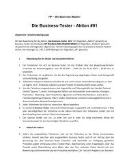 Die Business-Tester - Aktion #01 - HP - Hewlett Packard