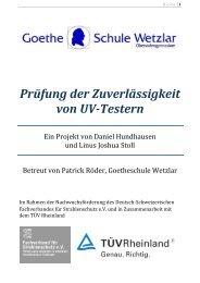 Prüfung der Zuverlässigkeit von UV-Testern - Fachverband für ...