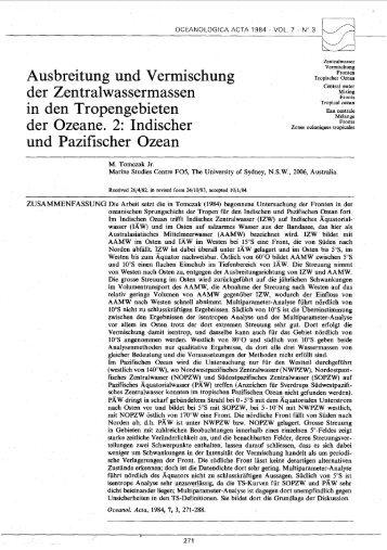 Indischer und Pazifischer Ozean - Archimer
