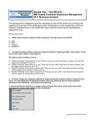 Sample Test – Test 000-474 – IBM Tealeaf Customer Experience ...