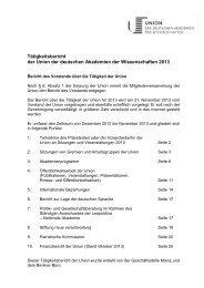 Tätigkeitsbericht 2013 - Union der deutschen Akademien der ...