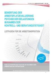 Leitfaden für die Arbeitsinspektion: Bewertung der Evaluierung