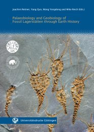 Palaeobiology and Geobiology of Fossil Lagerstätten ... - GWDG