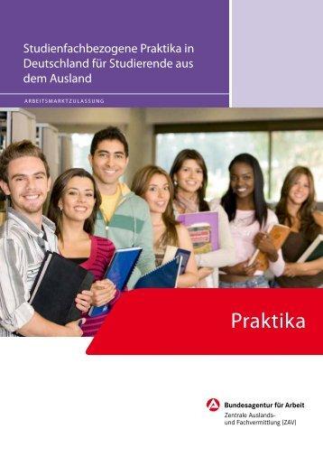 Studienfachbezogene Praktika in Deutschland für Studierende aus ...