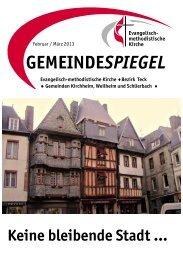 Gemeindespiegel Februar 2013 - EmK