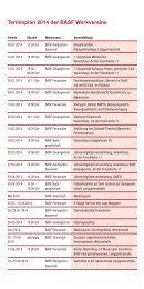 Terminplan 2014 der BASF Werkvereine - BASF.com