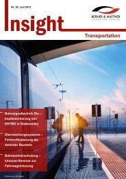 10. Newsletter 'Insight Transportation' (pdf 2,0 MB) - Berner & Mattner