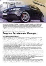 Program Development Manager - Borbet