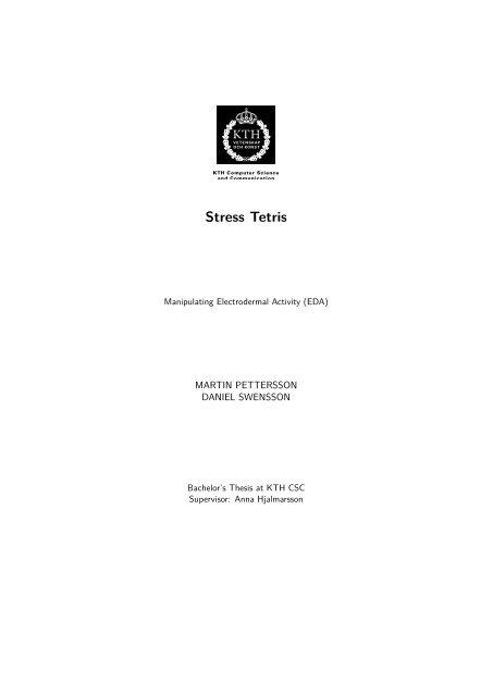 Stress Tetris - KTH