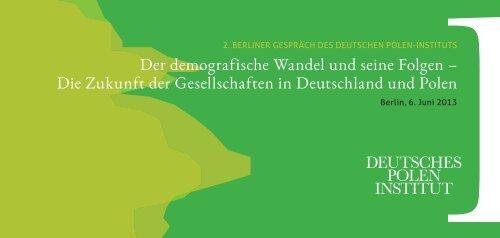 Einladung/Programm - Deutsches Polen-Institut