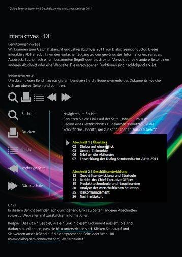 Interaktives PDF - Dialog Semiconductor