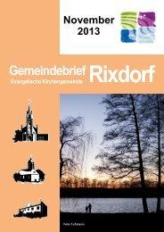 November 2013 - Ev. Kirchengemeinde Rixdorf