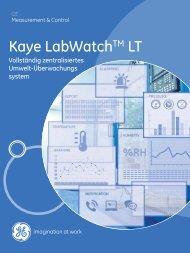 Kaye LabWatchTM LT - GE Measurement & Control