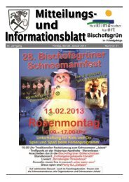 35. Jahrgang Freitag, den 25. Januar 2013 Nummer 01 - Bischofsgrün